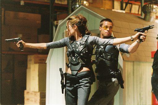 安潔莉娜裘莉(Angelina Jolie) 「小布」布萊德彼特(Brad Pitt) 《史密斯任務》 圖/達志
