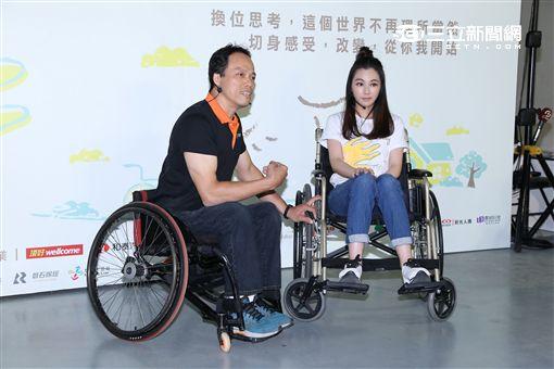陳怡蓉出席無障礙生活節體驗輪椅駕駛