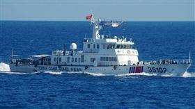 日本,中國大陸,海警船,海域,釣魚台 圖/美聯社/達志影像