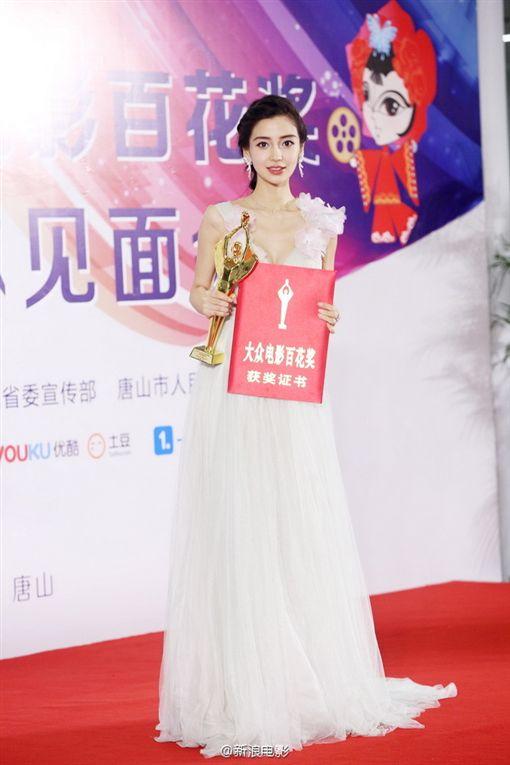 金雞百花電影節Angelababy、黃曉明 圖/翻攝自新浪電影微博