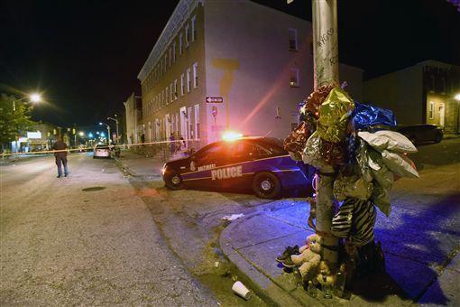 巴爾的摩,美國,槍擊案,傷亡圖/美聯社/達志影像