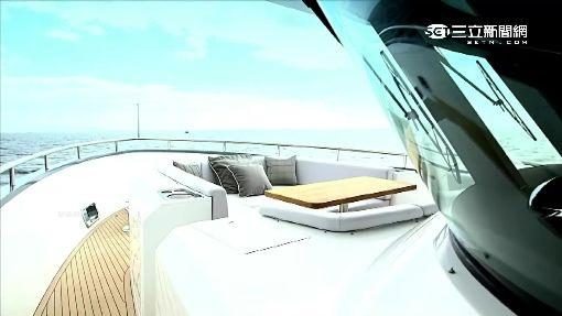 防颱工程不能少!高雄港吊掛豪華遊艇