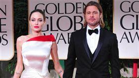 安潔莉娜裘莉(Angelina Jolie) 「小布」布萊德彼特(Brad Pitt) 圖/達志