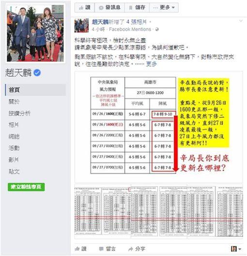 颱風,梅姬,辛在勤,趙天麟 圖/翻攝自趙天麟臉書