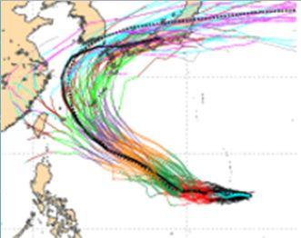 芙蓉颱風預測路徑 圖/翻攝自洩天機教室專欄