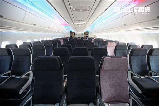 華航空中巴士A350客機內裝。(圖/記者簡佑庭攝)