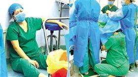 護士,產婦,接生 圖/翻攝自央視微博