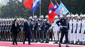 蔡英文軍禮歡迎宏都拉斯總統 總統府提供