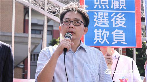 社民黨抗議,勞工,七天假,陳尚志 圖/記者林敬旻攝