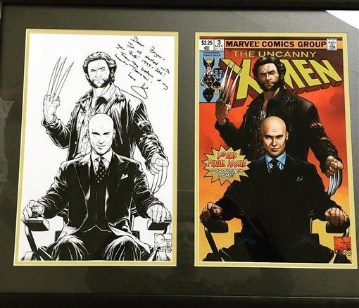休傑克曼送《X戰警》系列電影導演布萊恩辛格禮物。(圖/翻攝自布萊恩辛格 Instagram)