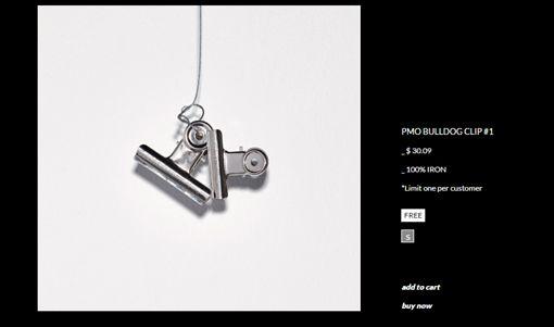 鐵夾。(翻攝自PEACEMINUSON官網)-http://www.peaceminusone.com/shop/product_detail?id=1