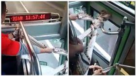 台版屍速列車?客運車門布條綁住 不擋喪屍擋這個 圖/翻攝自臉書社團爆料公社