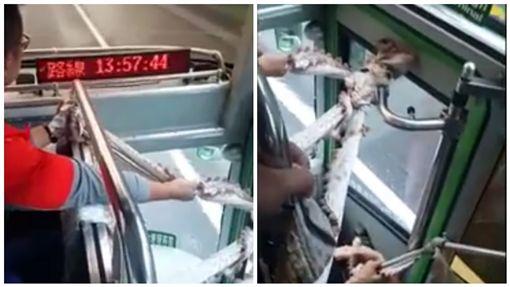 台版屍速列車?客運車門布條綁住 不擋喪屍擋這個圖/翻攝自臉書社團爆料公社