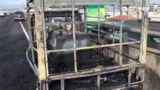 貨車載油未蓋好引大火 駕駛驚嚇過度送醫