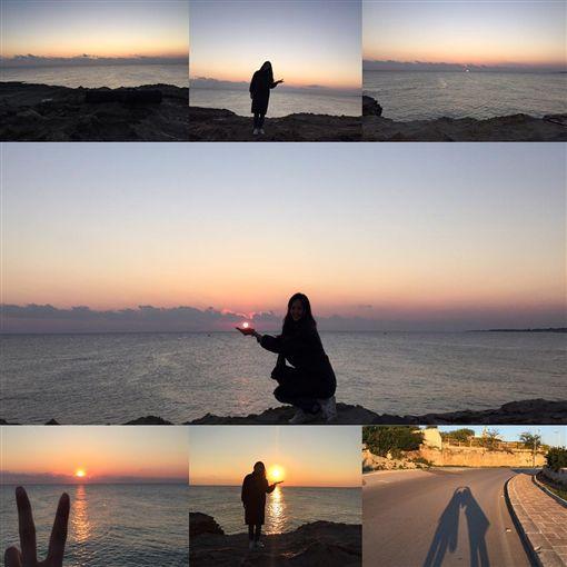 唐嫣分享海邊系列照片。(圖/翻攝自唐嫣Instagram)
