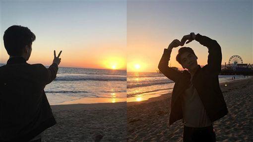 李易峰分享海邊照片。(圖/翻攝自李易峰Instagram)