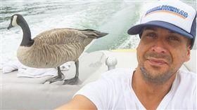 美國男子麥克與加拿大雁凱爾。(圖/翻攝自Instagram)