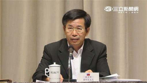 教育部長潘文忠。(記者盧素梅)