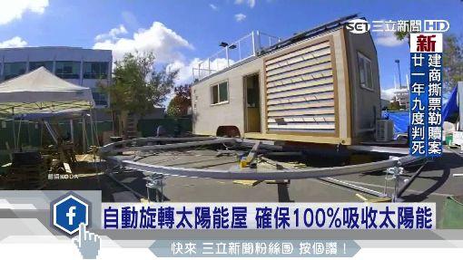 自動旋轉太陽能屋 確保100%吸收太陽能