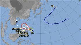 颱風,莎莉佳,台灣,天氣 圖/翻攝自日本氣象廳網站