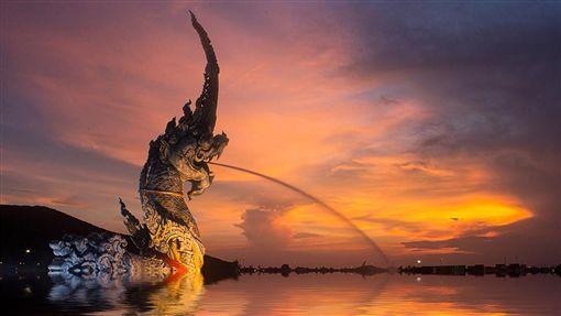 泰國,日落,海邊(圖/Pixabay)