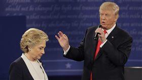 川普,希拉蕊,美國大選,辯論(圖/美聯社)