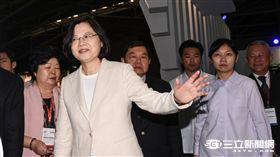總統蔡英文,台北紡織展 圖/記者林敬旻攝