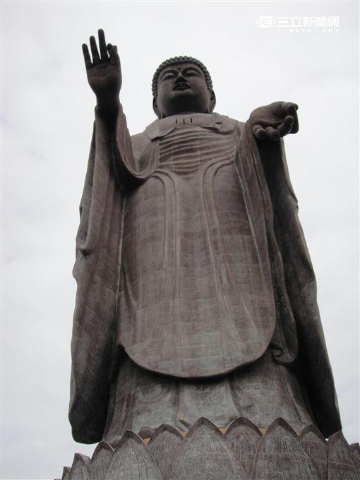 茨城縣牛久大佛,阿彌陀佛,佛教,佛像(圖/記者謝宛真攝影)