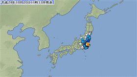 1020日本地震-圖/翻攝自日本氣象廳