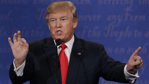 美國總統第三場辯論、川普、希拉蕊(圖/美聯社/達志影像)