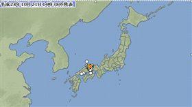 日本鳥取縣發生6.6強震(圖/翻攝自日本氣象廳)