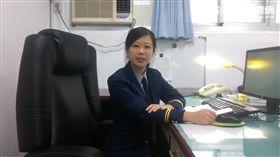 激似藝人「瑤瑤」的美女交通分隊長張惠慈(楊忠翰攝)