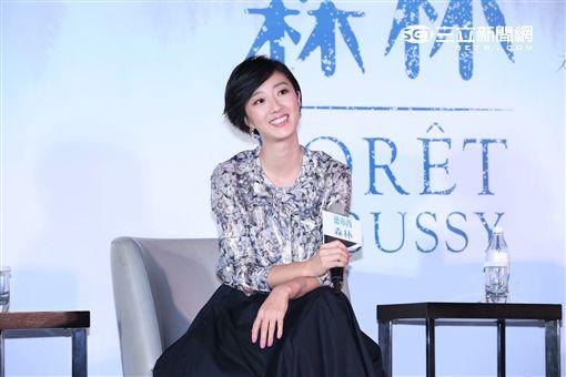 電影德布希森林舉行發佈會,導演郭承衢率主要演員桂綸鎂.陸弈靜出席宣傳
