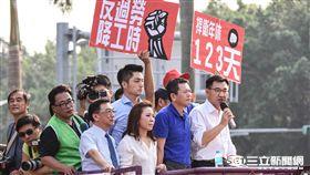 勞工七天假抗議,立法院,國民黨,江啟臣,蔣萬安,李彥秀,陳宜民 圖/記者林敬旻攝