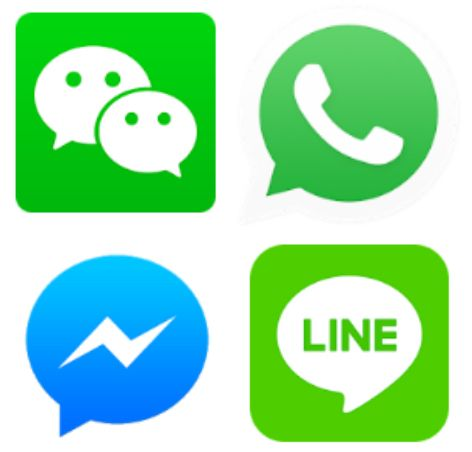 iMessage,Facetime,國際特赦組織,科技,app,Whatsapp,微信,QQ,Messenger,LINE/Google Play
