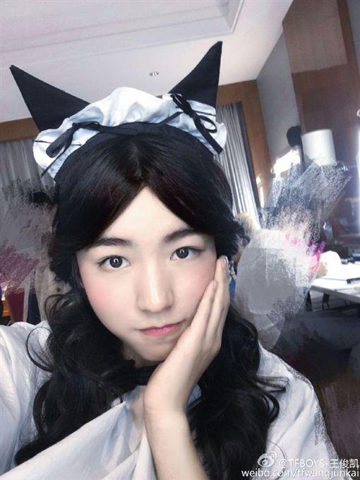 TFBOYS,王俊凱,小鮮肉,美女,偶像,微博-翻攝自王俊凱微博