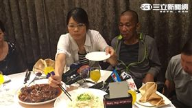 沈瑞章回台第一晚,在基隆長榮桂冠吃團圓飯 盧冠妃攝