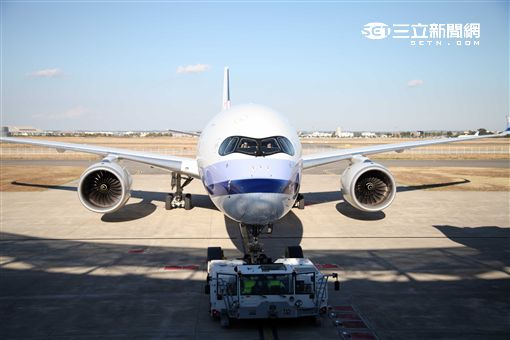 華航A350客機。(圖/記者簡佑庭攝)