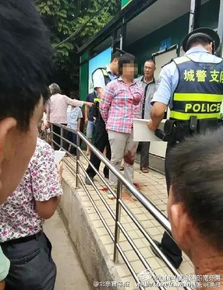 中國大陸廣西6旬老婦人遭捅殺(圖/翻攝自北京青年報微博)