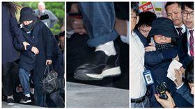崔順實Choi Soon-sil與她的72萬韓元Prada名牌鞋(合成圖/美聯社/達志影像)