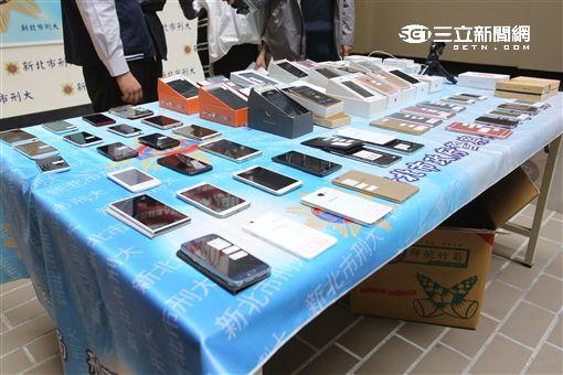 新北市刑大破獲販售山寨機的店家,其中假iPhone7僅需4000元便可購得(翻攝畫面)