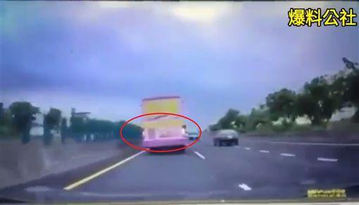 三寶,逆向,快速道路,大7,貨車圖/翻攝自爆料公社影片