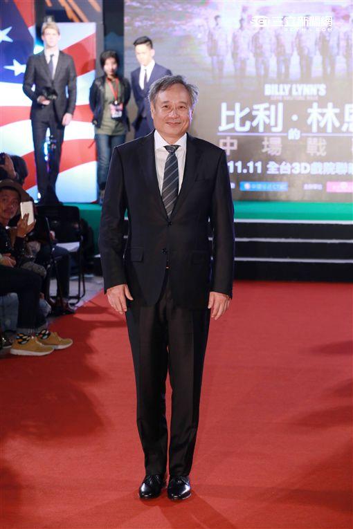 20161102-李安 喬歐文 李淳 《比利.林恩的中場戰事》首映典禮紅毯儀式