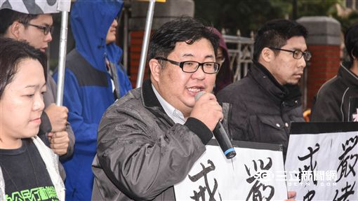 抗議集遊法,胡博硯 圖/記者林敬旻攝