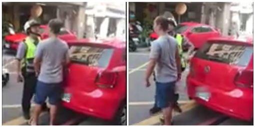 買早餐違停嗆消防員遭罰15萬/翻攝自臉書粉絲團「新北消防發爾麵」
