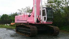 挖土機,怪手,大鋼牙,Hello Kitty,凱蒂貓,粉紅色 (爆料公社)