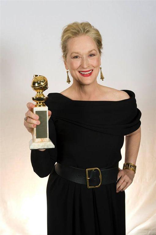 梅莉史翠普,圖/Golden Globes臉書