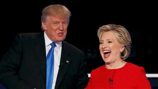 美國總統候選人希拉蕊、川普(圖/路透社/達志影像)