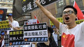 香港「反釋法」爆發警民衝突(圖/美聯社/達志影像)