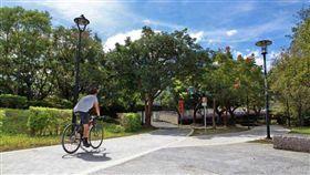 新北,三峽區溪北河濱公園,自行車,旅遊。(圖/翻攝自新北旅客臉書)